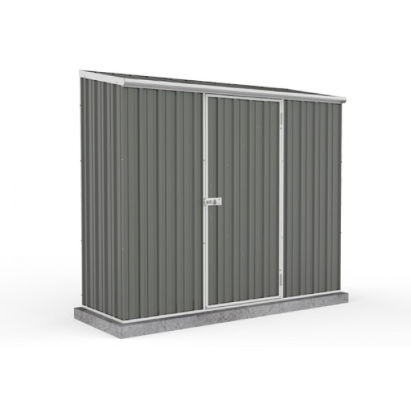 Absco Colorbond Skillion Garden Shed Medium Garden Sheds Single Door  2.26m x 0.78m x 1.95m 23081SK