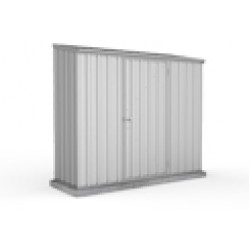 Absco Zinc Skillion Garden Shed Medium Garden Sheds Single Door 2.26m x 0.78m x 1.95m 23081SK