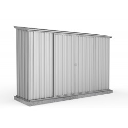 Absco Zinc Double Door Skillion Garden Shed Large Garden Sheds 3.00m x 0.78m x 1.95m 30082SK
