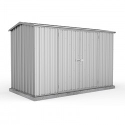 Absco 30152GK 3.00m x 1.52m x 1.95m Gable Garden Shed Large Garden Sheds Zinc Double Door