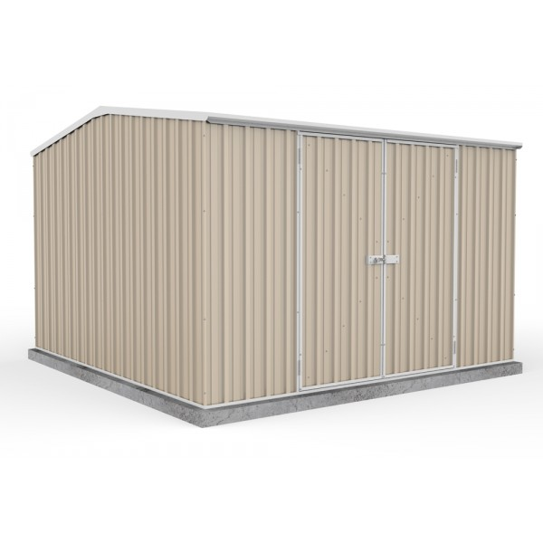 Absco Colorbond Double Door Gable Garden Shed Large Garden Sheds 3.00m x 3.00m x 2.00m 30302GK