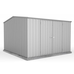 Absco Zinc Double Door Gable Garden Shed Large Garden Sheds Zinc 3.00m x 3.00m x 2.00m 30302GK