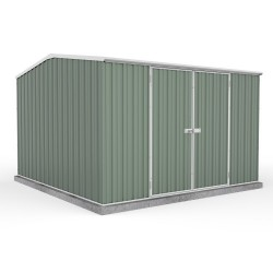 Absco 30232GK 3.00m x 2.26m x 2.00m Gable Garden Shed Large Garden Sheds Colorbond Double Door