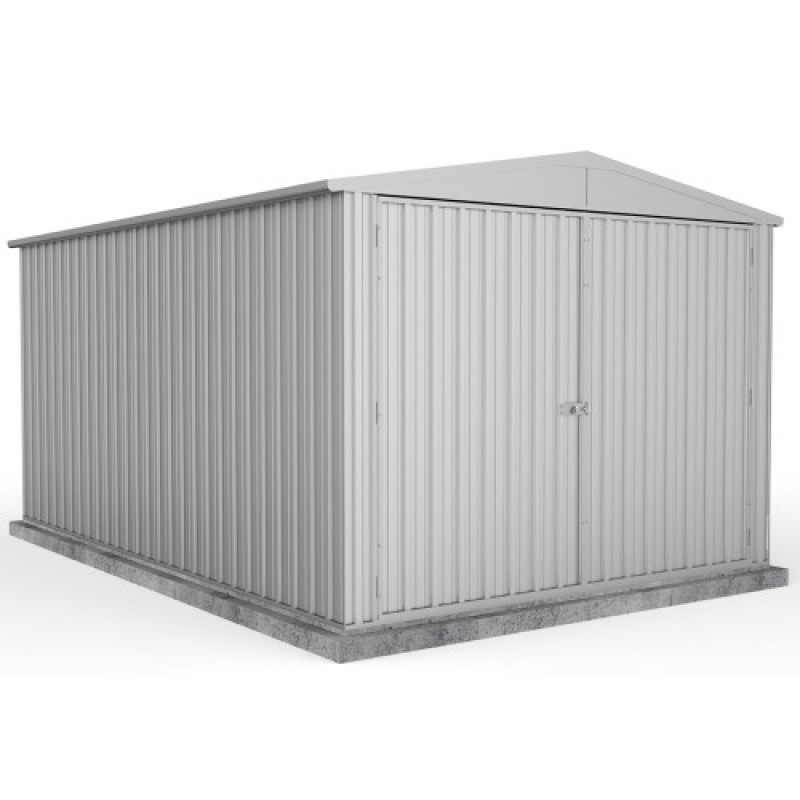 Absco zinc double door gable garden shed x x 2 for Garden shed 4 x 3