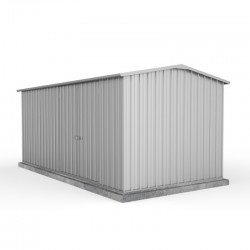 Absco 45232WK 4.48m x 2.26m x 2.00m Gable Workshop Shed Extra Large Sheds Zinc