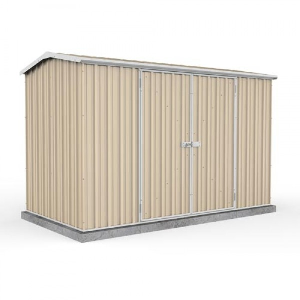 Absco 30152GK 3.00m x 1.52m x 1.95m Double Door Gable Garden Shed Large Garden Sheds Colorbond