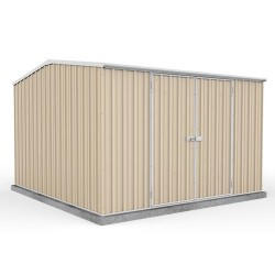 Absco Colorbond Double Door Gable Premier Garden Shed Large Garden Sheds 3.00m x 3.00m x 2.06m 30302GK