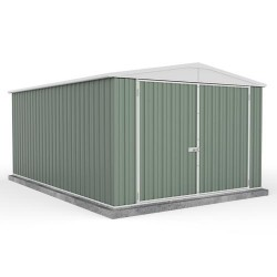 Absco 3045UTK 3.00m x 4.48m x 2.06m Gable Garden Shed Large Garden Sheds Utility Shed Double Door Colorbond