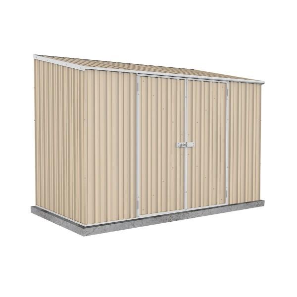 Absco 30152SK 3.00m x 1.52m x 2.08m Double Door Skillion Garden Shed Large Garden Sheds Colorbond