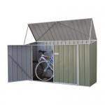 Absco Colorbond Skillion Garden Shed Medium Bike Sheds Single Door 2.26m x 0.78m x 1.31m 230813BK