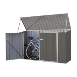 Absco Colorbond Skillion Garden Shed Medium Bike Sheds Single Door 2.26m x 0.78m x 1.31m 230813BK