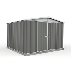 Absco Colorbond Double Door Gable Garden Shed Large Garden Sheds 3.00m x 2.92m x 2.06m 30292RK