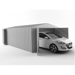 EasyShed Zinc Garage Shed Single Garages 7.50m x 3.00m x 2.10m EGAR7530