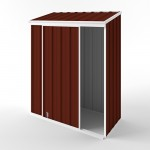 EasyShed Skillion Narrow Slider Garden Shed 1.50m x 0.78m x 1.95m ENSL-S1508