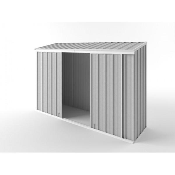 EasyShed Skillion Narrow Slider Garden Shed 3.00m x 0.78m x 1.95m ENSL-D3008