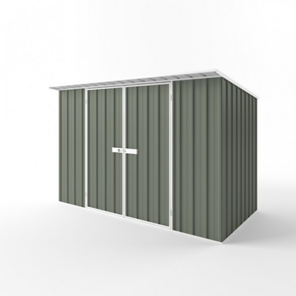 EasyShed Colour Skillion Roof Garden Shed Large Garden Sheds 3.75m x 1.90m x 2.10m ESD3819