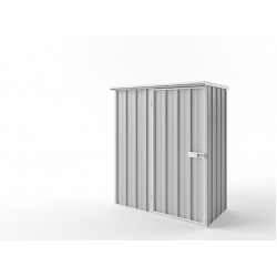 EasyShed Zinc Flat Roof Garden Shed Small Garden Sheds 1.52m x 0.75mx 1.82m EFS1508