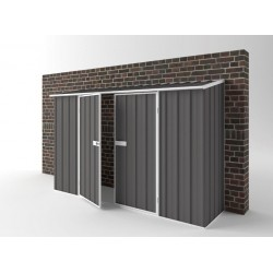 EasyShed Colour Off The Wall Garden Shed Large Garden Sheds 3.00m x 0.78m x 1.95m EWD3008
