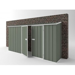 EasyShed Colour Off The Wall Garden Shed Large Garden Sheds 3.75m x 0.78m x 1.95m EWD3808