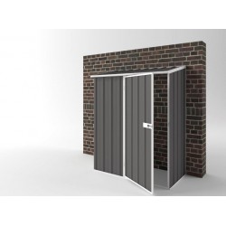 EasyShed Off The Wall Garden Shed Small Garden Sheds 1.50m x 0.78m x 1.95m EWS1508