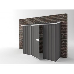 EasyShed Colour Off The Wall Garden Shed Medium Garden Sheds 2.25m x 0.78m x 1.95m EWS2308