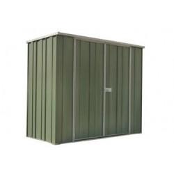 Spanbilt Yardsaver Slimline F62-D 2.105m x 0.72m x 1.80m Flat Roof Garden Shed Medium Garden Sheds