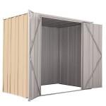 Spanbilt Yardsaver Slimline F63-D Zinc 2.105m x 1.07m x 1.80m Flat Roof Garden Shed Medium Garden Sheds