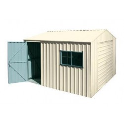 Spanbilt Yardpro Workshop 260C Colour 2.60m x 5.40m x 2.445m Gable Roof Workshop Shed Medium Garden Sheds