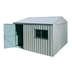 Spanbilt Nova Workshop Single Door 260A Zinc 2.60m x 3.40m x 2.445m Gable Roof Workshop Shed Medium Garden Sheds
