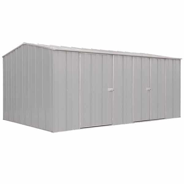Spanbilt Eco Plus Workshop 1510 Zinc 4.535m x 2.80m x 2.085m Gable Roof Workshop Shed Extra Large Garden Sheds