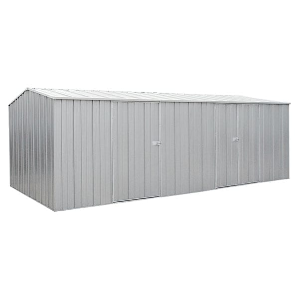 Spanbilt Eco Plus Workshop 2010 Zinc 5.915m x 2.80m x 2.085m Gable Roof Workshop Shed Extra Large Garden Sheds