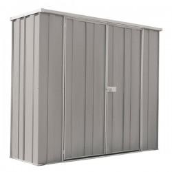 Spanbilt Yardsaver Slimline F62-D Zinc 2.105m x 0.72m x 1.80m Flat Roof Garden Shed Medium Garden Sheds
