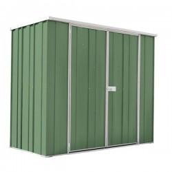 Spanbilt Yardsaver Slimline F63-D Colour 2.105m x 1.07m x 1.80m Flat Roof Garden Shed Medium Garden Sheds