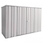 Spanbilt Yardsaver Slimline F83-D Colour 2.105m x 1.41m x 1.80m Flat Roof Garden Shed Medium Garden Sheds