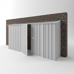 EasyShed Zinc Off The Wall Garden Shed Large Garden Sheds 3.75m x 0.75m x 1.95m EWD3808