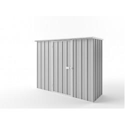 EasyShed Zinc Flat Roof Garden Shed Medium Garden Sheds 2.25m x 0.75mx 1.82m EFS2308