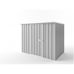EasyShed Zinc Flat Roof Garden Shed Medium Garden Sheds 2.25m x 1.50m x 1.82m EFS2315