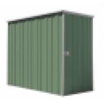 Spanbilt Yardsaver Slimline F26-S Colour 2.105m x 0.72m x 1.80m Flat Roof Garden Shed Medium Garden Sheds