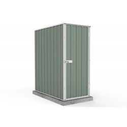 Absco Colorbond Ezislim Flat Roof Garden Shed Small Garden Sheds 0.78m x 1.52m x 1.80m 08151FK