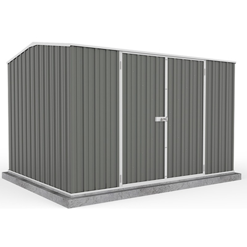 Absco colorbond double door gable garden shed x 2 for Garden shed 2 x 2
