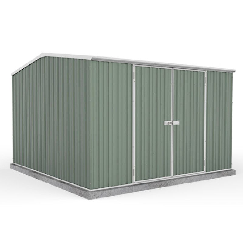 Absco colorbond double door gable garden shed x 3 for Garden shed 2 x 2
