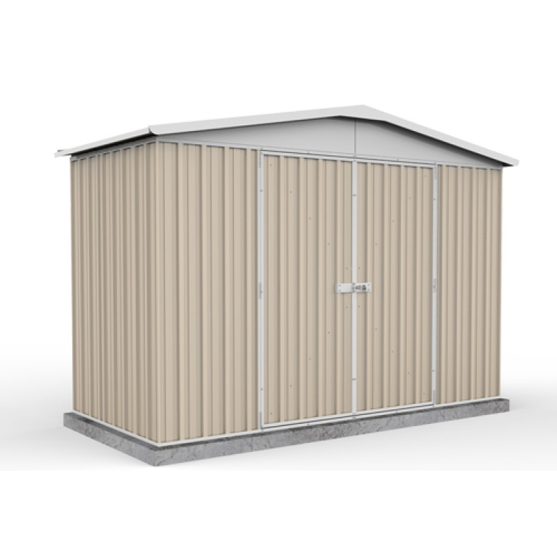 Absco Colorbond Double Door Gable Garden Shed X X