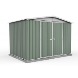 Absco 30222RK 3.00m x 2.18m x 2.06m Gable Garden Shed Large Garden Sheds Colorbond Double Door