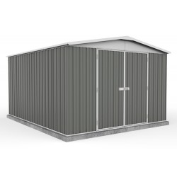 Absco 30372RK 3.00m x 3.66m x 2.06m Gable Garden Shed Large Garden Sheds Colorbond Double Door