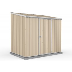 Absco Colorbond Single Door Skillion Garden Shed Medium Garden Sheds 2.26m x 1.52m x 2.08m 23151SK