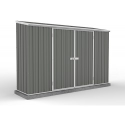 Absco Colorbond Double Door Skillion Eco-Nomy Garden Shed Large Garden Sheds  3.00m x 0.78m x 1.95m 30082SK