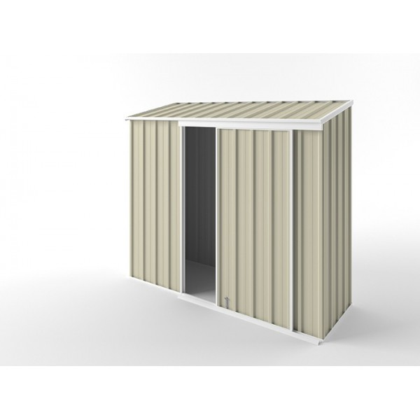 EasyShed Skillion Narrow Slider Garden Shed 2.25m x 0.78m x 1.95m ENSL-S2308