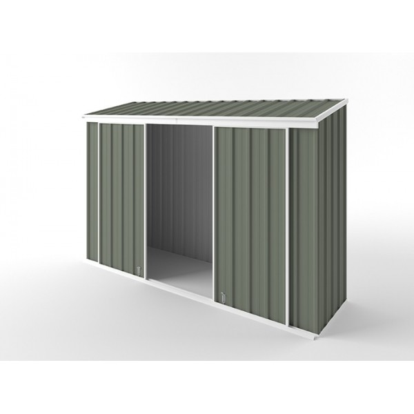 EasyShed Skillion Narrow Slider Garden Shed 3.00m x 0.78m x 1.95m ENSL-D3008