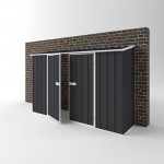 EasyShed Colour Off The Wall Garden Shed Large Garden Sheds 3.00m x 0.75m x 1.95m EWD3008