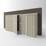 EasyShed Colour Off The Wall Garden Shed Large Garden Sheds 3.75m x 0.75m x 1.95m EWD3808
